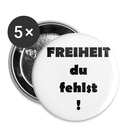 FREIHEIT du fehlst! - Buttons klein 25 mm (5er Pack)