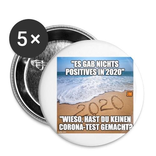 nichts Positives in 2020 - kein Corona-Test? - Buttons klein 25 mm (5er Pack)