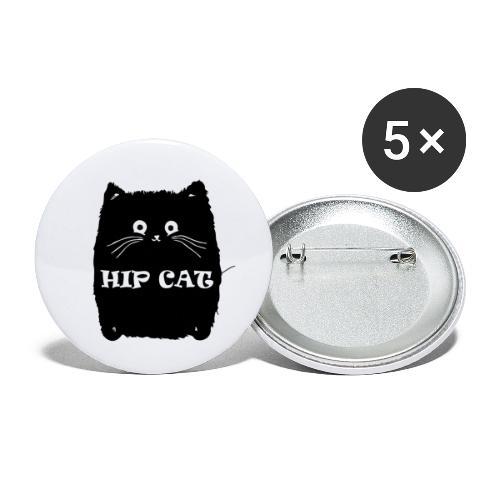 HIP CAT - Lot de 5 petits badges (25 mm)