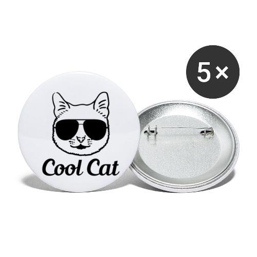 COOL CAT - Lot de 5 petits badges (25 mm)