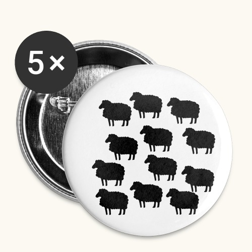 Farbe anpassbar lustige Schafherde Geschenkidee - Lot de 5 petits badges (25 mm)