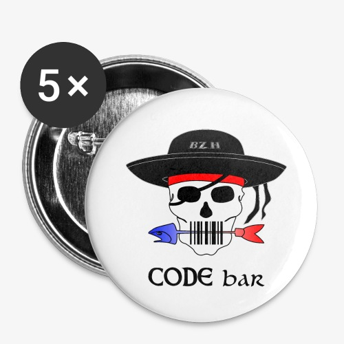 Code Bar couleur - Lot de 5 petits badges (25 mm)