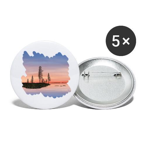 Été en Laponie - Lot de 5 petits badges (25 mm)