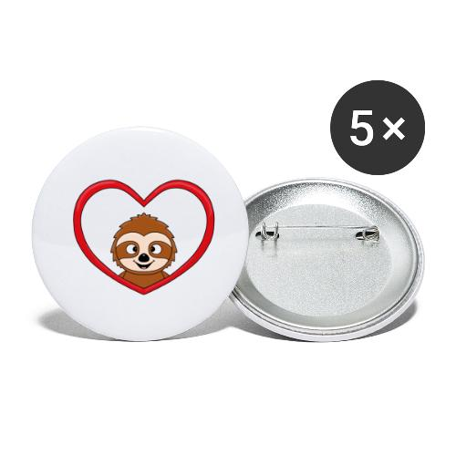 FAULTIER - LIEBE - LOVE - TIER - KIND - BABY - Buttons klein 25 mm (5er Pack)