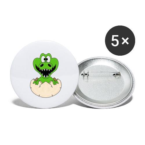 KROKODIL - GEBURT - BABY - TIER - KIND - EI - Buttons klein 25 mm (5er Pack)