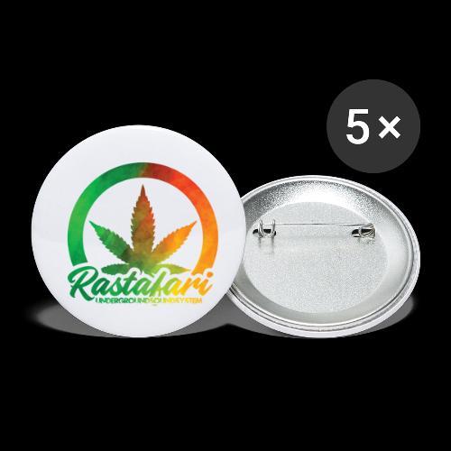 RASTAFARI UNDERGROUNDSOUNDSYSTEM - Buttons klein 25 mm (5er Pack)