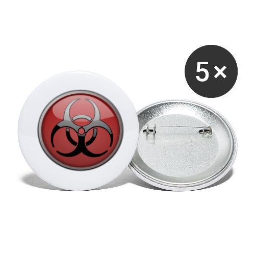 DANGER BIOHAZARD - Buttons klein 25 mm (5er Pack)