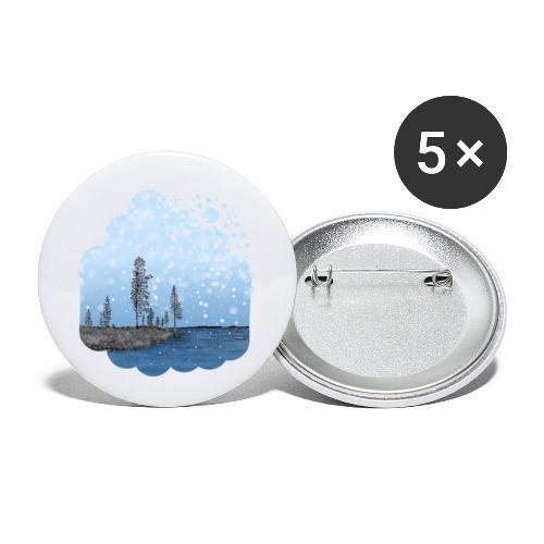 Première neige - Lot de 5 petits badges (25 mm)