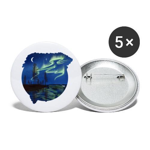 Reflet des aurores boréales - lapland8seasons - Lot de 5 petits badges (25 mm)