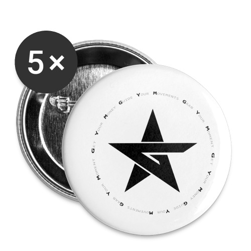 G Y M Time - Buttons small 1''/25 mm (5-pack)
