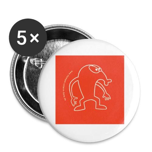button vektor rot - Buttons klein 25 mm (5er Pack)