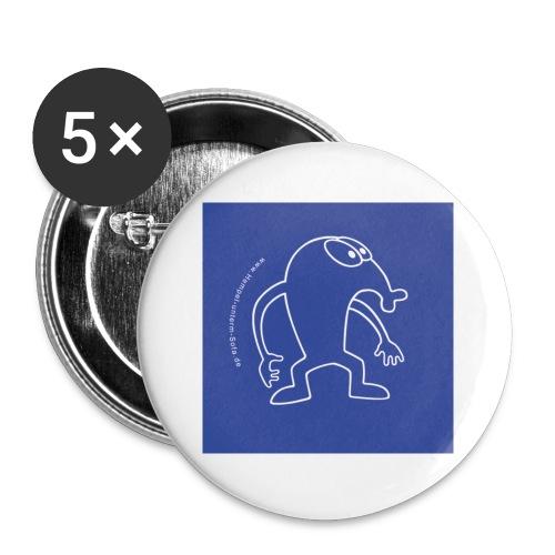 button vektor blau - Buttons klein 25 mm (5er Pack)