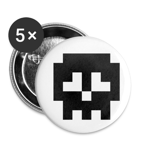 Retro Gaming Skull - Buttons small 1''/25 mm (5-pack)