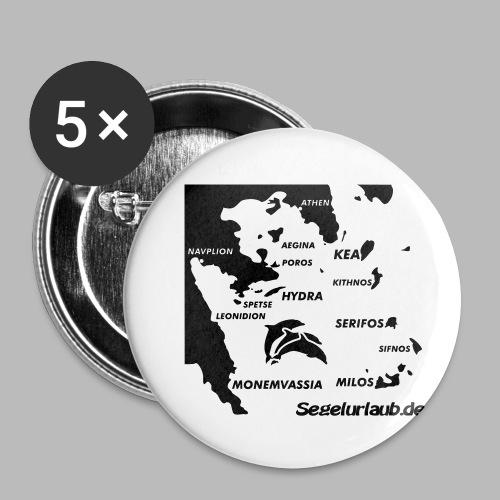 pelepones_kykladen - Buttons klein 25 mm (5er Pack)