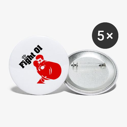 fight 01 - Lot de 5 petits badges (25 mm)