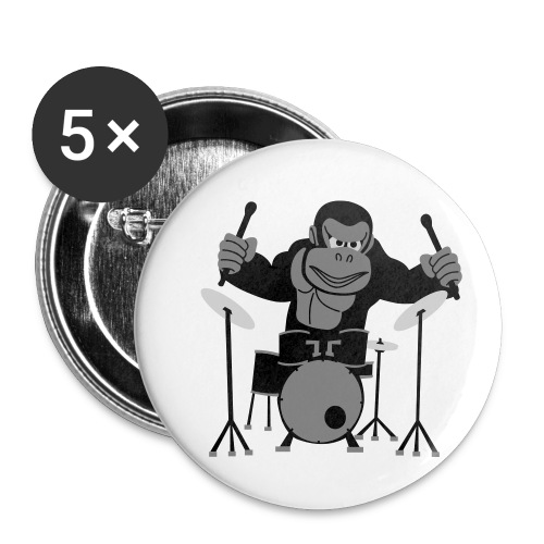 Drumming Gorilla - Buttons small 1''/25 mm (5-pack)