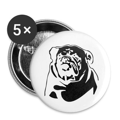 English Bulldog - negative - Rintamerkit pienet 25 mm (5kpl pakkauksessa)
