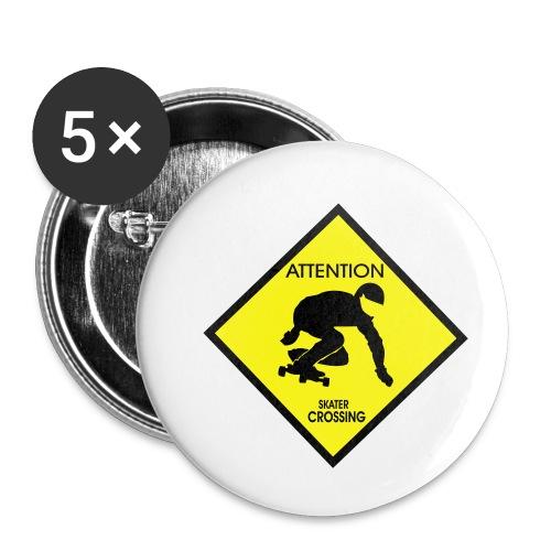 Cool Eye Company Motiv  Attention Longboarder - Buttons klein 25 mm (5er Pack)