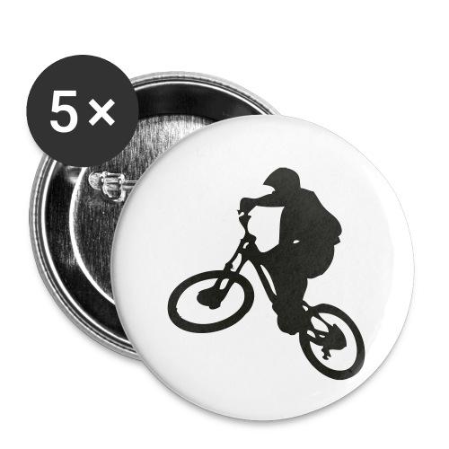 VTT Freeride - Lot de 5 petits badges (25 mm)