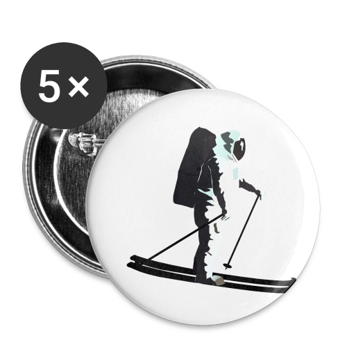 Moonlight Skiing - Buttons small 1''/25 mm (5-pack)