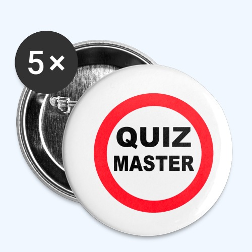 Quiz Master Stop Sign - Buttons small 1''/25 mm (5-pack)