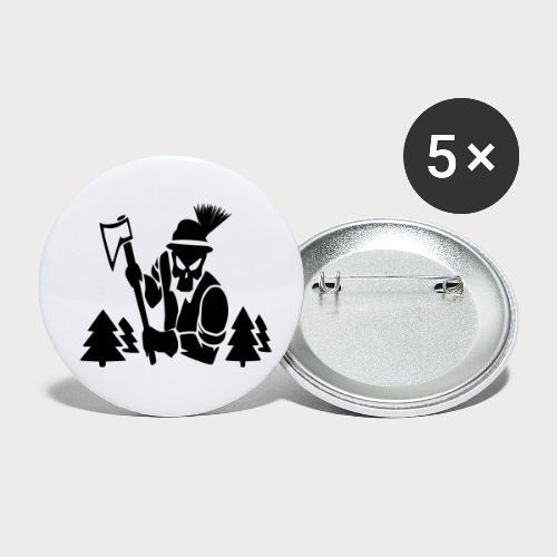 Holzfäller - Buttons klein 25 mm (5er Pack)