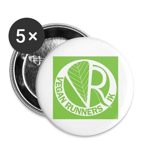VeganRunners Logga jpg - Små knappar 25 mm (5-pack)