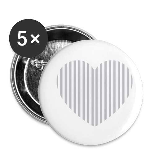 heart_striped.png - Buttons small 1''/25 mm (5-pack)