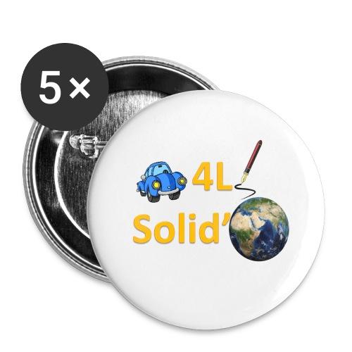 Logo grand - Lot de 5 petits badges (25 mm)