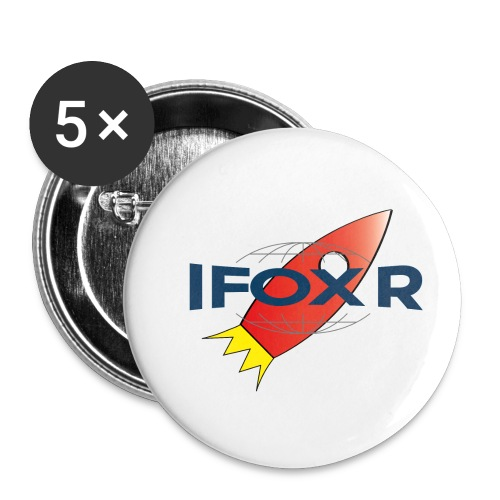 IFOX ROCKET - Små knappar 25 mm (5-pack)