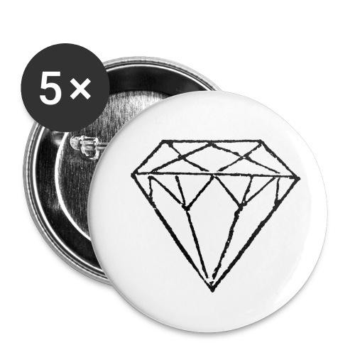 Diamond - Små knappar 25 mm (5-pack)