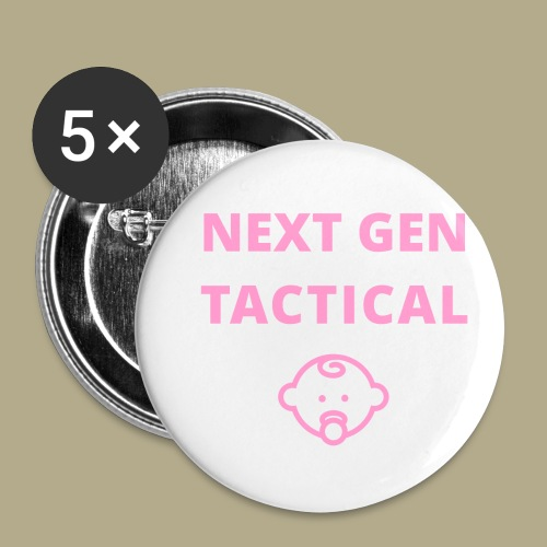 Tactical Baby Girl - Buttons klein 25 mm (5-pack)