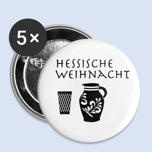 Hessische Weihnachten - Buttons klein 25 mm (5er Pack)