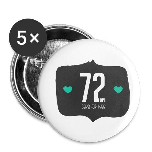 72DPI - Buttons klein 25 mm (5-pack)