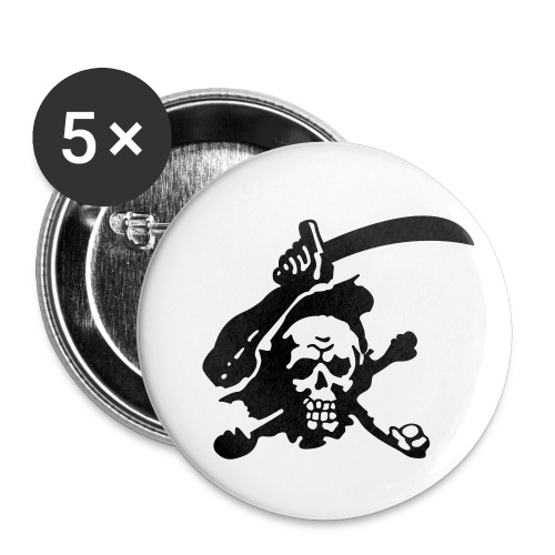 Skull Attack - Buttons small 1''/25 mm (5-pack)