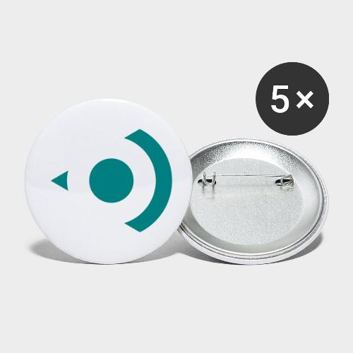 Precisionsound Logo 1 - Buttons small 1''/25 mm (5-pack)