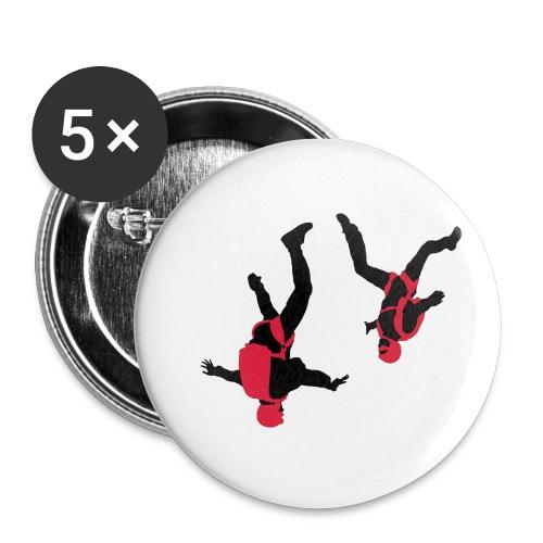 parachutisme Free Fly - Lot de 5 petits badges (25 mm)