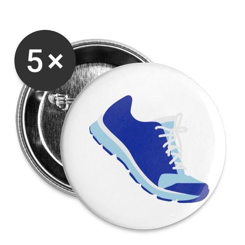 Laufschuh - Buttons klein 25 mm (5er Pack)