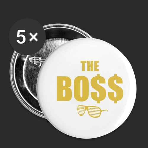 The Bo$$ Mens T-Shirt - Buttons small 1''/25 mm (5-pack)