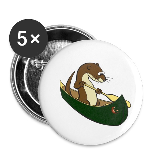 greencanoewithsticker - Buttons small 1''/25 mm (5-pack)
