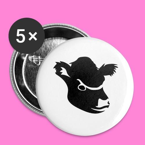 gallowayhoofd1 - Buttons klein 25 mm (5-pack)