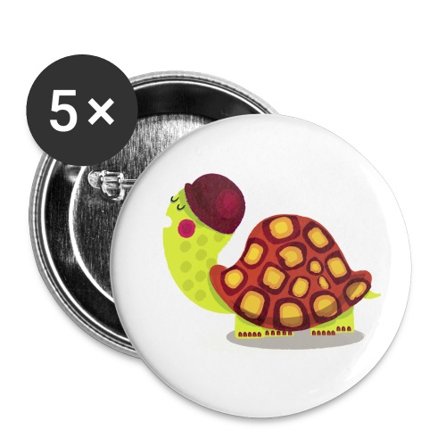 TORTUE - Lot de 5 petits badges (25 mm)