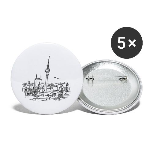 Le panorama de Berlin - Lot de 5 petits badges (25 mm)
