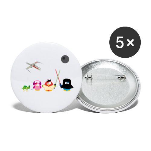 Star Ouarz - Lot de 5 petits badges (25 mm)