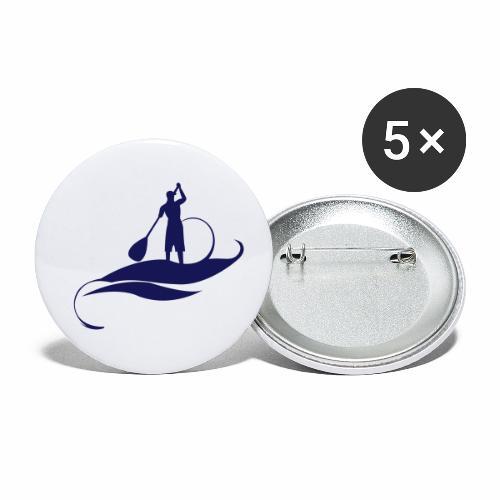 Paddle man casquette - Lot de 5 petits badges (25 mm)