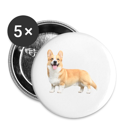 Topi the Corgi - Sideview - Buttons small 1''/25 mm (5-pack)