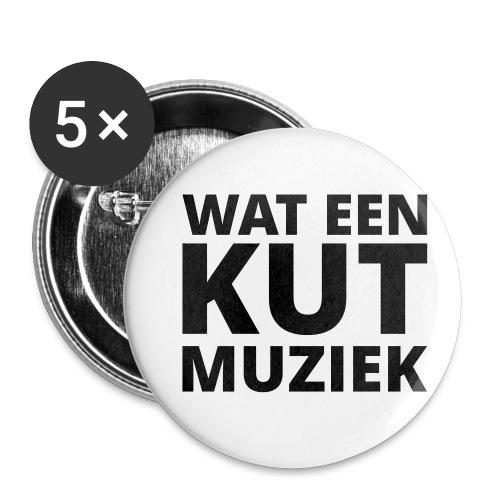 Wat een kutmuziek - Buttons klein 25 mm (5-pack)
