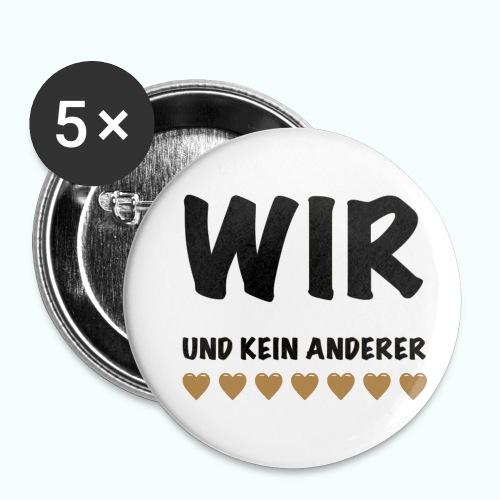 WIR - Buttons klein 25 mm (5er Pack)