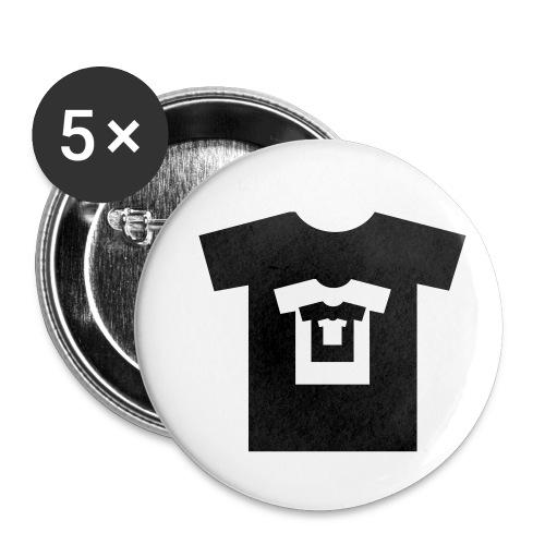 t-shirt récursif - Lot de 5 petits badges (25 mm)