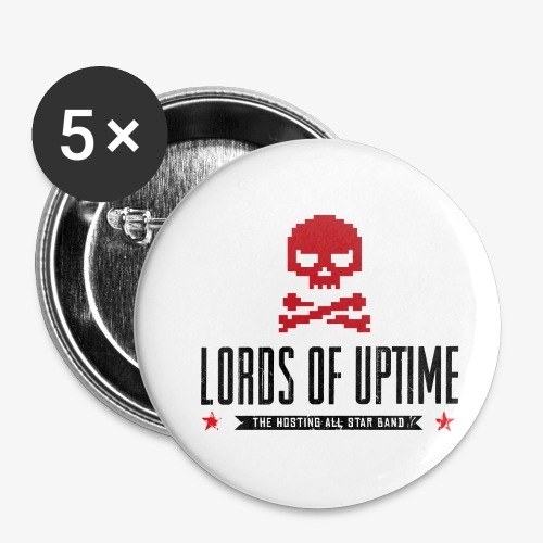 Lords of Uptime black - Buttons klein 25 mm